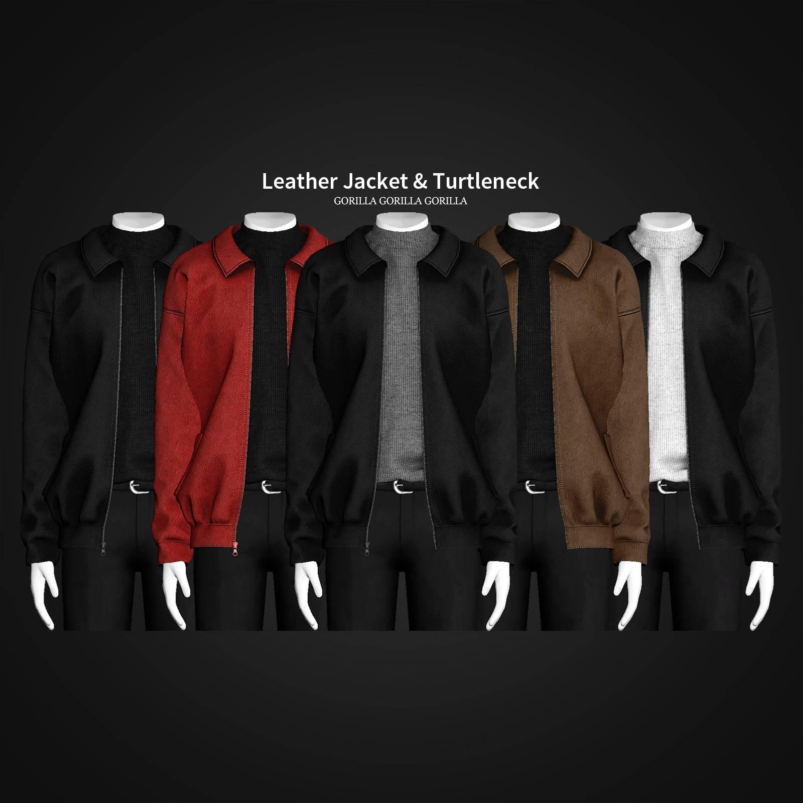 Куртка и водолазка - Leather Jacket & Turtleneck