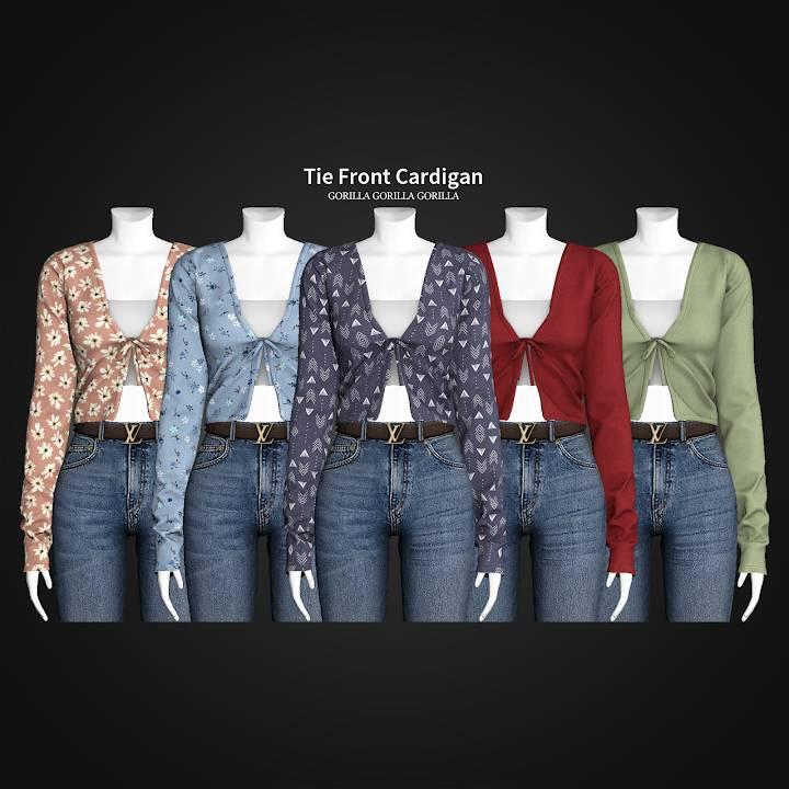 Кардиган и топ - Tie Front Cardigan
