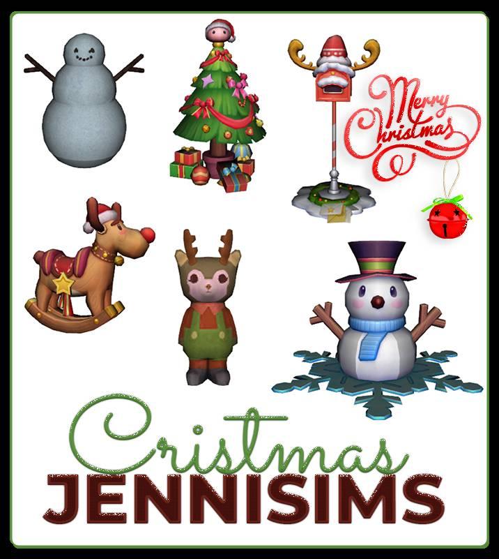 Набор рождественских декоративных объектов - DECORATIVES XMAS
