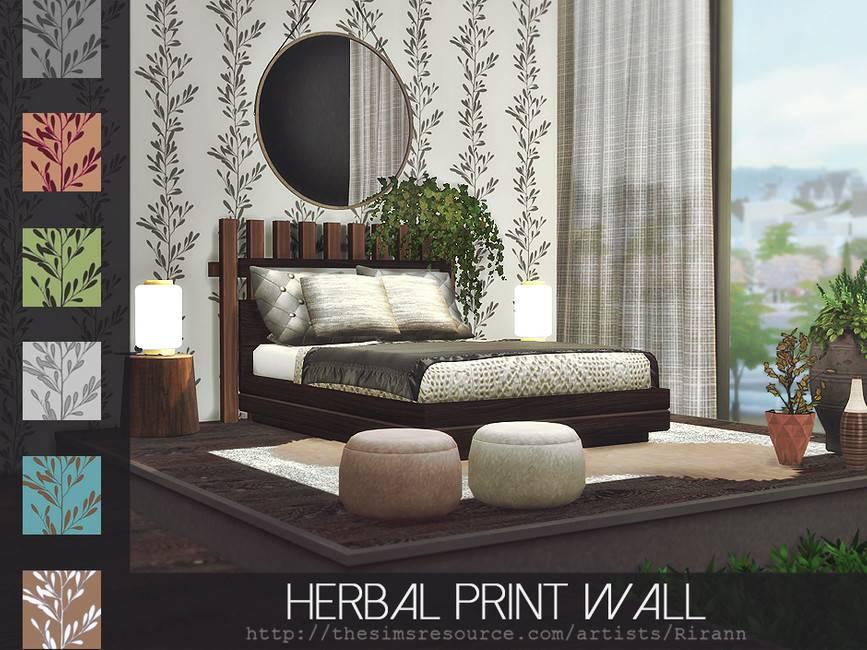 Обои - Herbal Print Wall