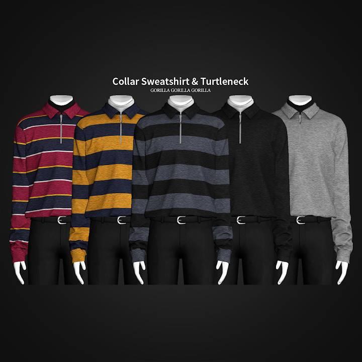 Толстовка и водолазка - Collar Sweatshirt & Turtleneck