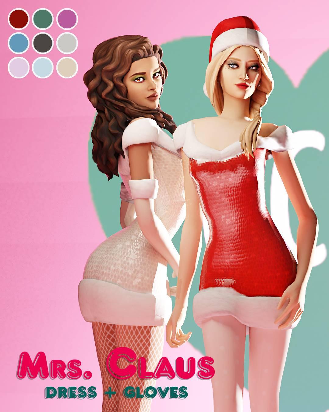 Платье и перчатки - MrsClaus