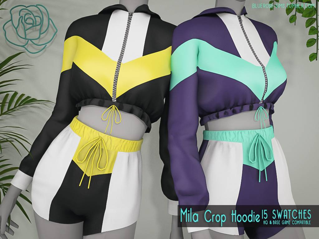 Спортивная кофта - Mila Crop Hoodie