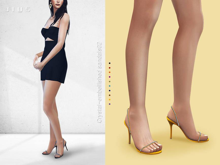 Босоножки - Crystal embellished sandals 02