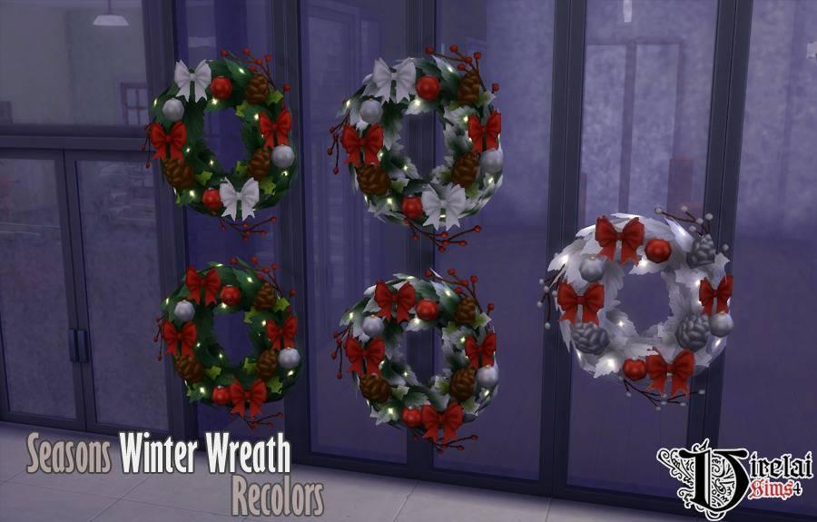 Новогодний венок - Seasons Winter Wreath Recolors