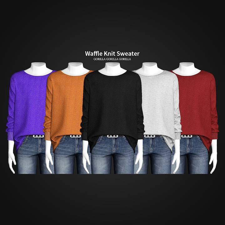 Мужской свитер - Waffle Knit Sweater