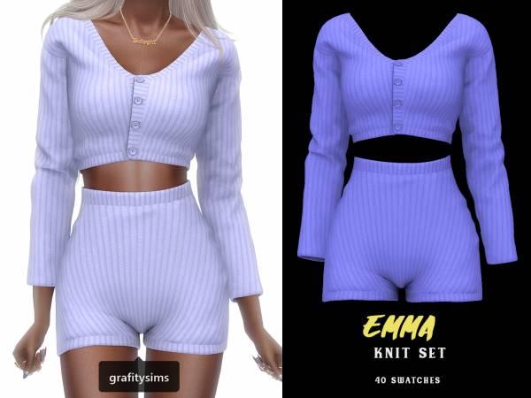 Кофта и шорты - emma knit set