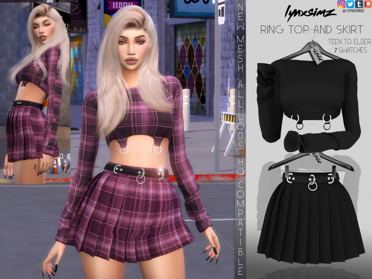 Топ и юбка - RING SET TOP AND SKIRT