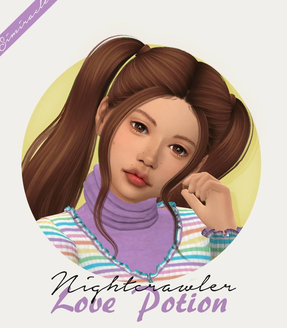 Прическа для девочек и малышек - Nightcrawler Love Potion