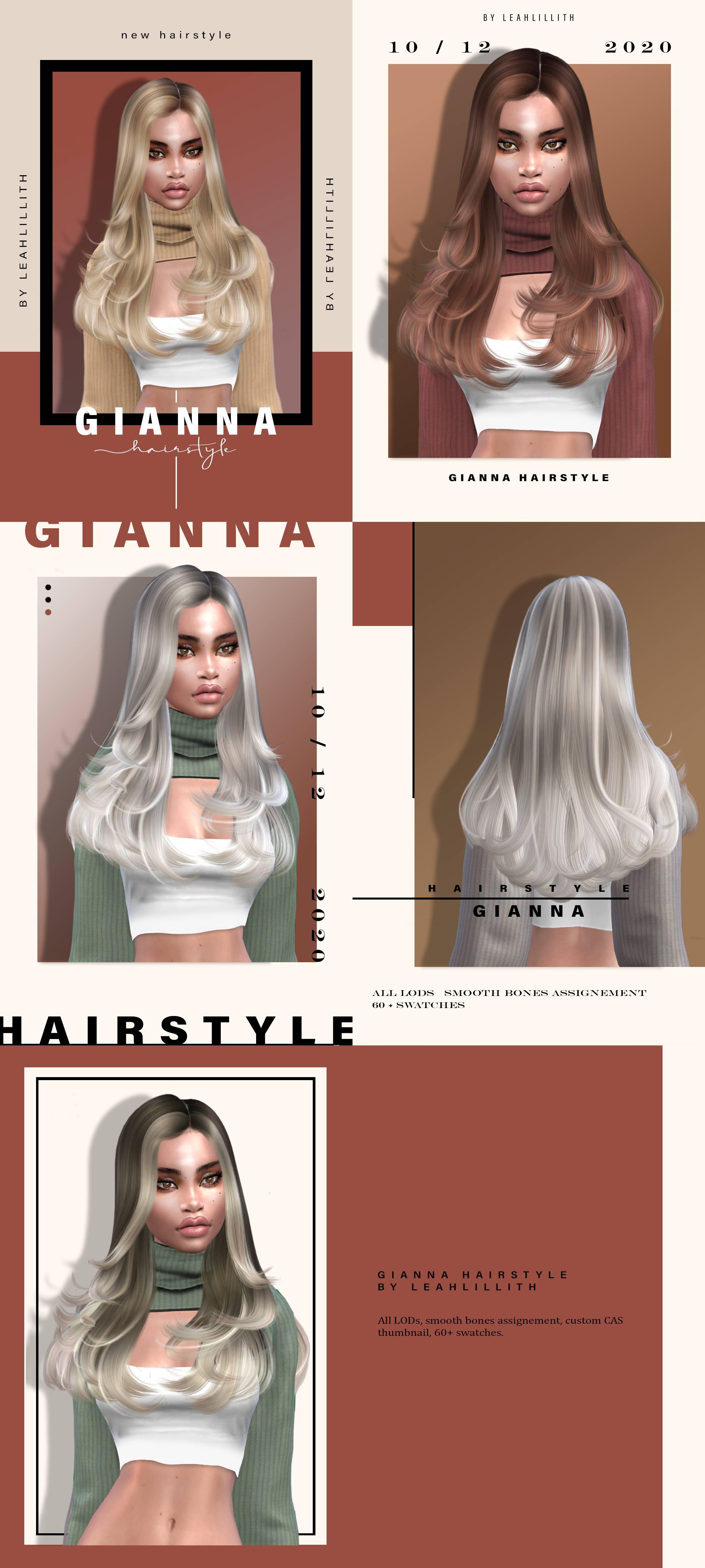 Женская прическа - Gianna Hairstyle