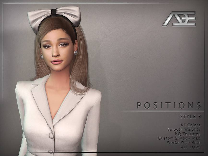 Женская прическа - Positions Style 3