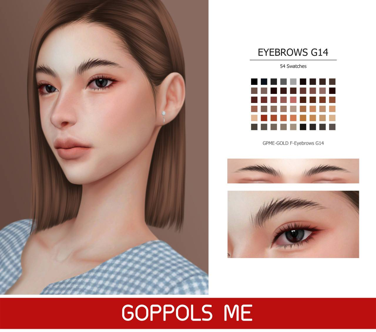 Брови - Eyebrows G14