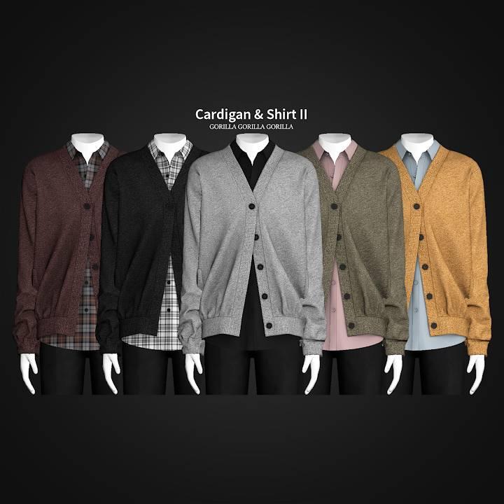 Кардиган и рубашка - Cardigan & Shirt II