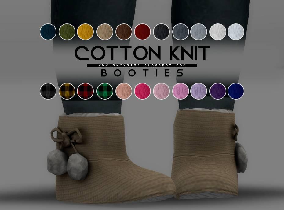 Пинетки для малышей - COTTON KNIT BOOTIES