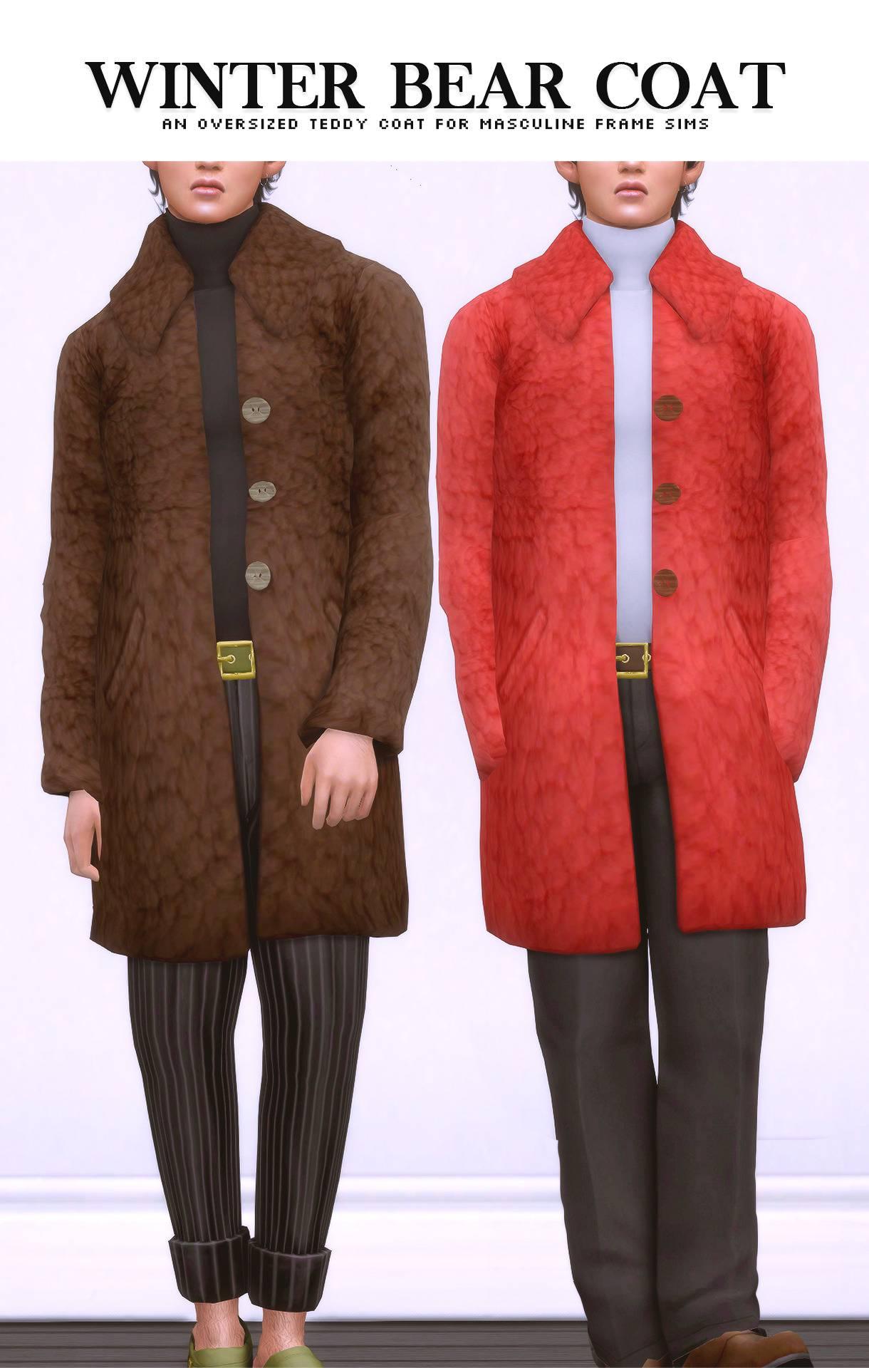 Пальто и водолазка - Winter Bear Coat