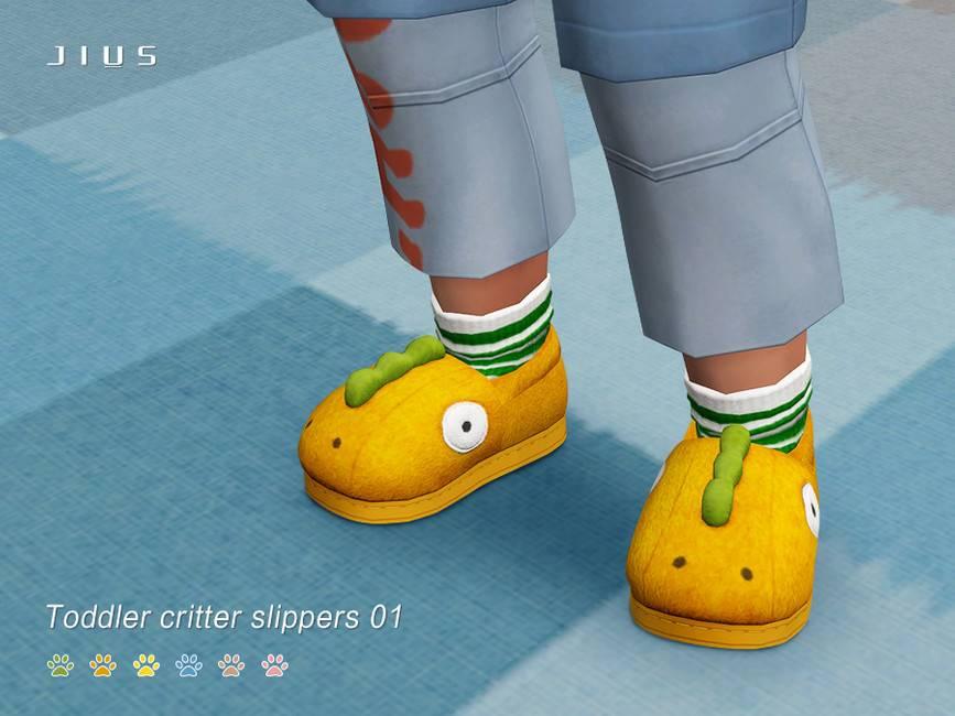 Тапочки для малышей - Toddler critter slippers 01