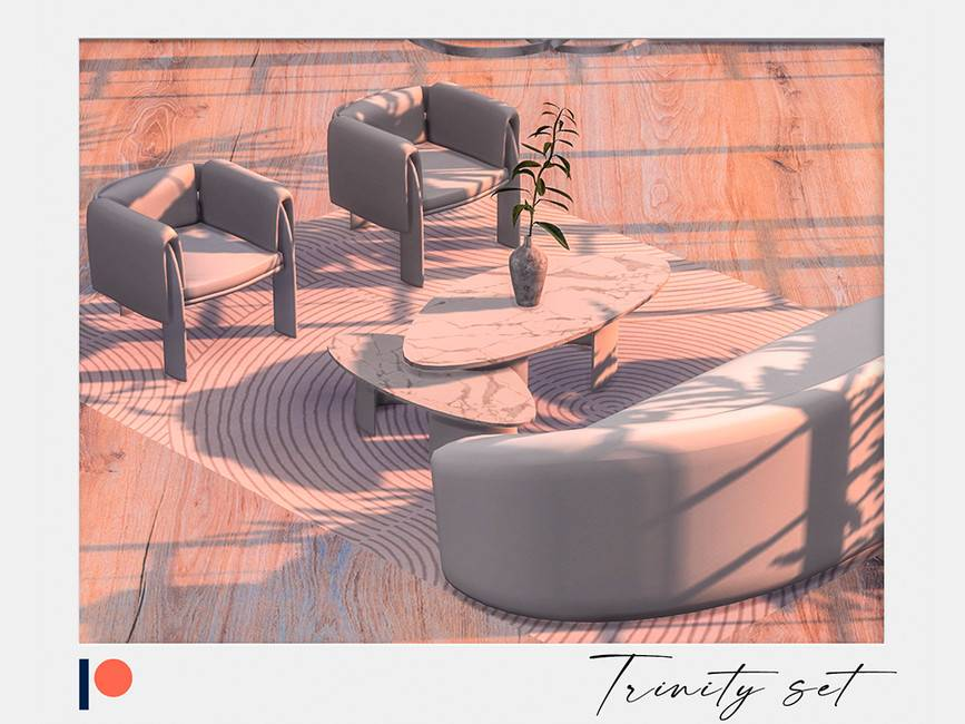 Кресло и журнальный столик - Trinity set