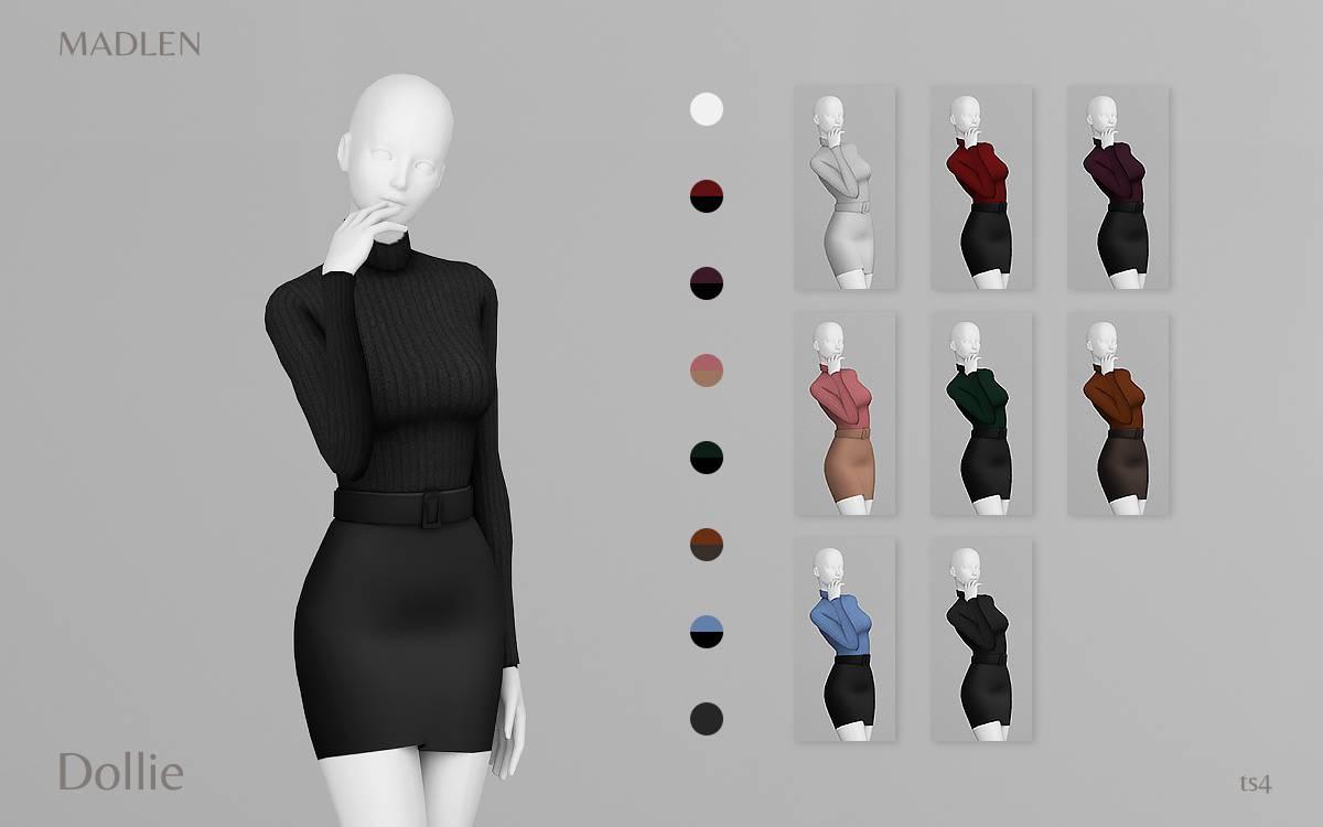 Водолазка и юбка - Dollie Outfit