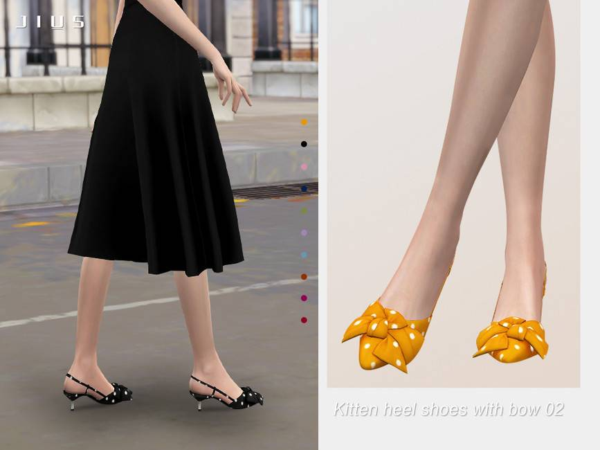 Туфли - Kitten heel shoes with bow 02