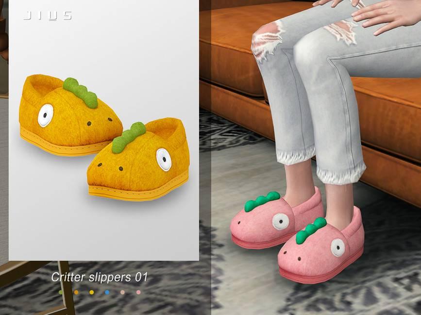 Женские тапочки - Critter slippers 01