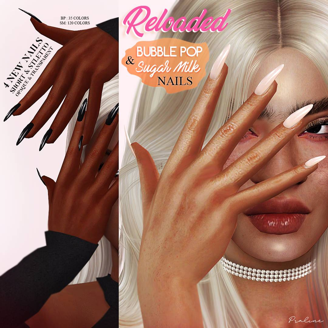 Маникюр - BUBBLE POP AND SUGAR MILK Nails RELOADED