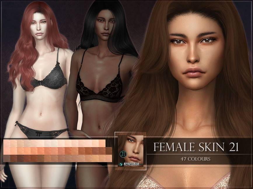Женский скинтон - Female skin 21