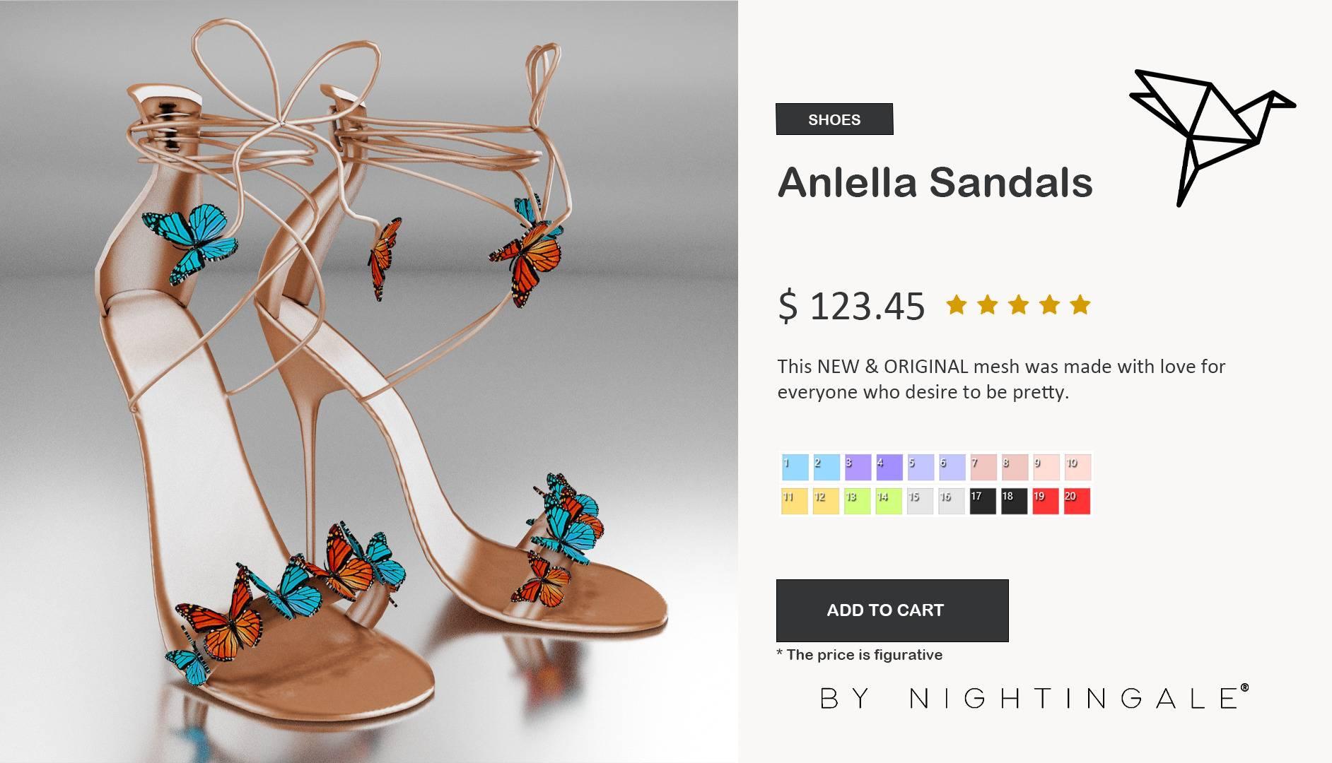 Босоножки - Anlella Sandals