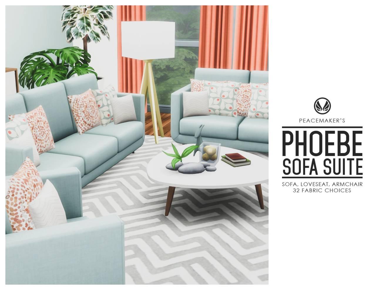 Набор мебели для гостиной - Phoebe Sofa Suite