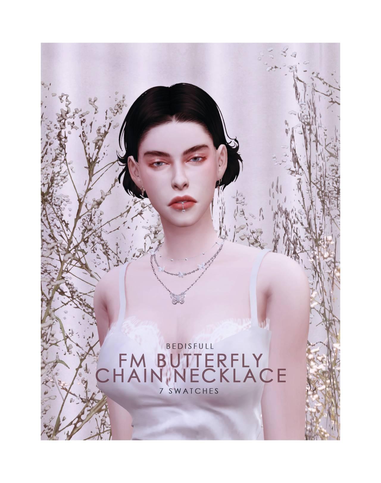 Комплект аксессуаров - butterfly chain necklace