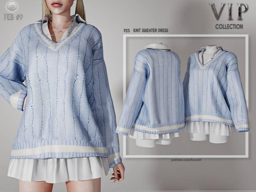Рубашка и свитер - Knit Sweater Dress P25