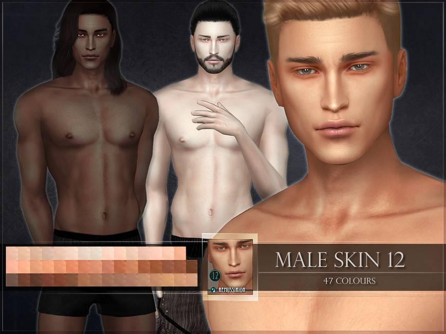 Мужской скинтон - Male skin 12