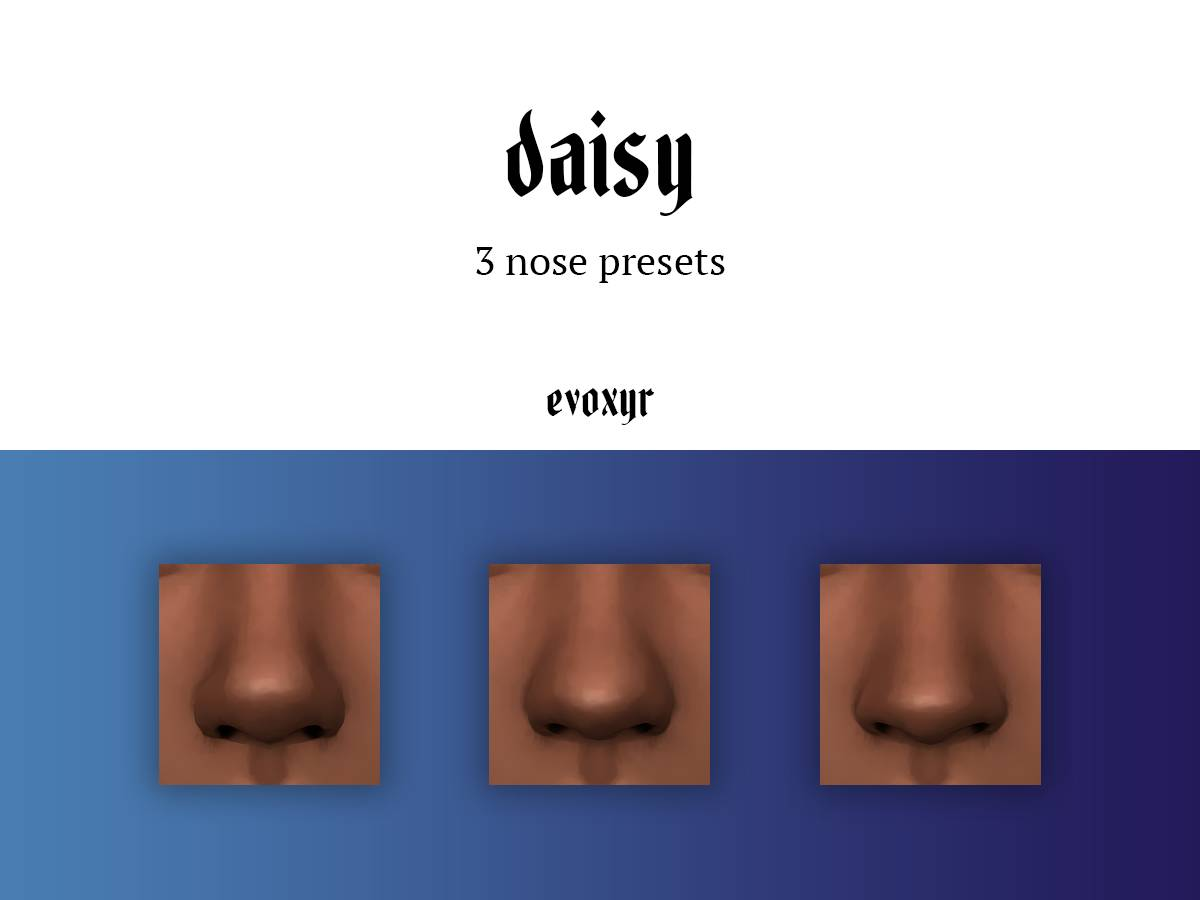 Пресеты для носа - daisy nose presets