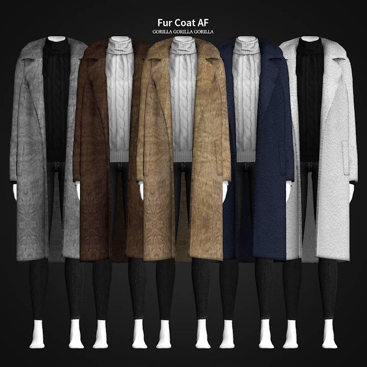 Шуба и свитер - Fur Coat AF