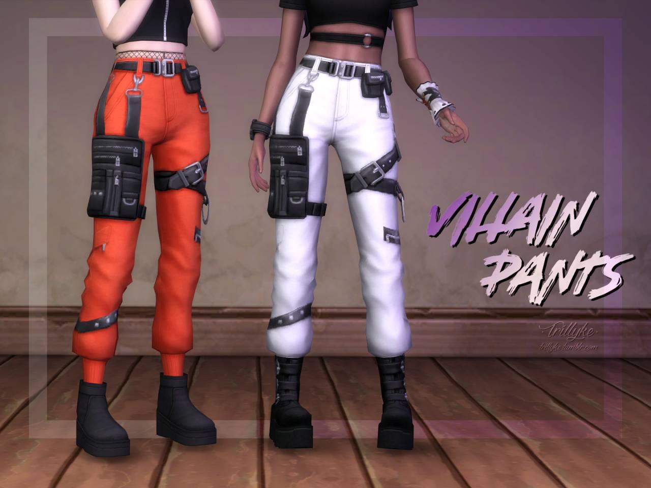 Женские штаны - VILLAIN PANTS