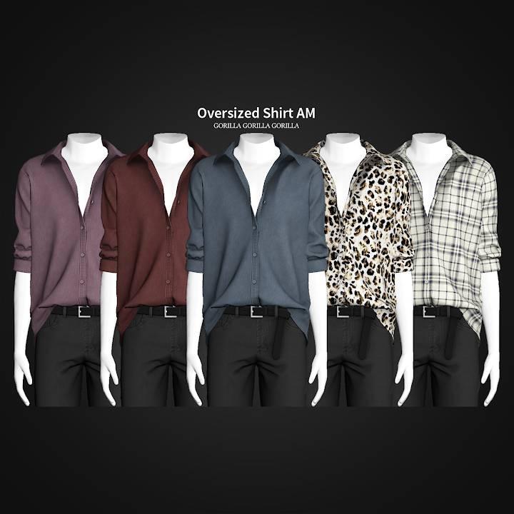 Мужская рубашка - Oversized Shirt AM