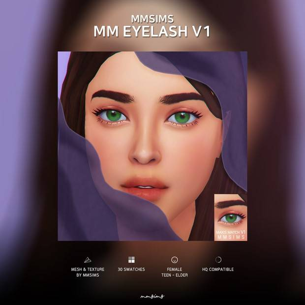 Ресницы - Eyelash Maxis Match v1