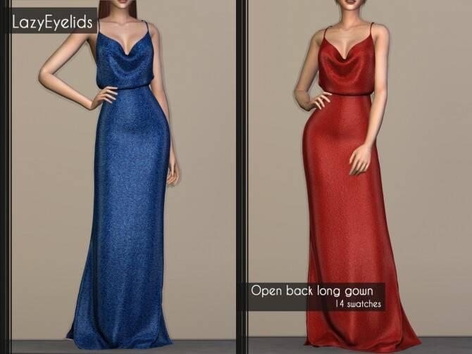 Платье - open back long gown