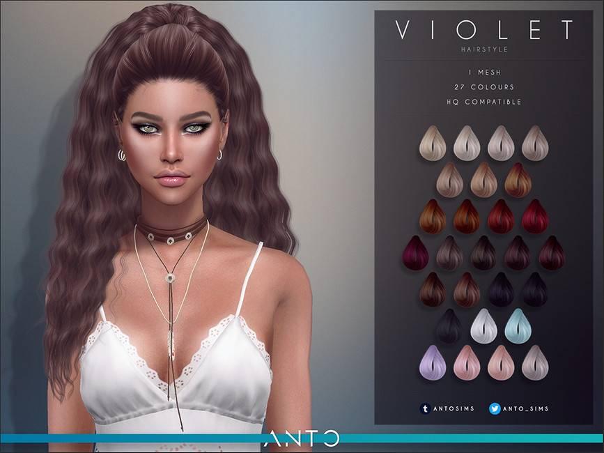 Женская прическа - Violet