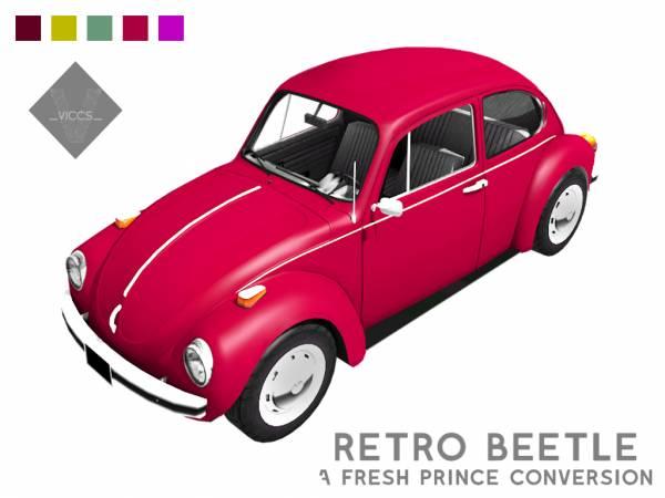 Автомобиль - retro beetle