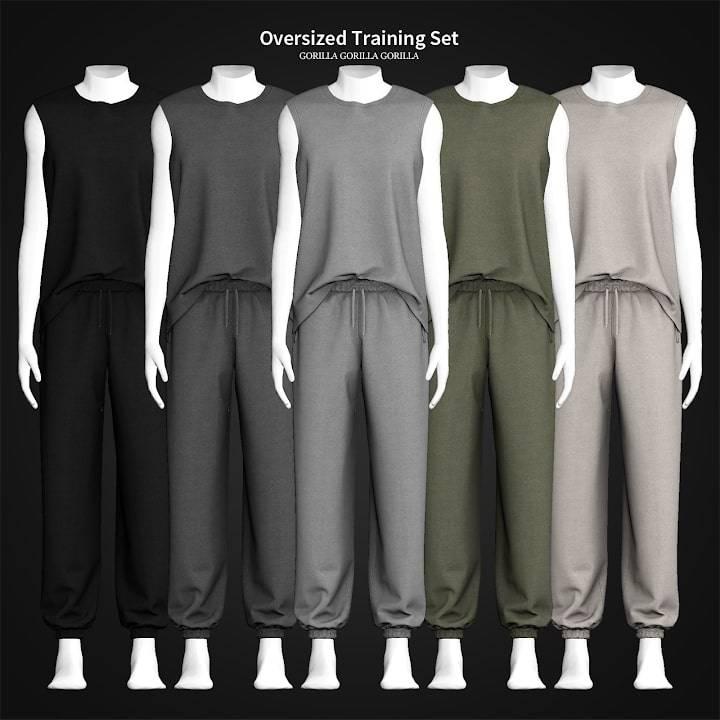 Мужской спортивный костюм - Oversized Training Set