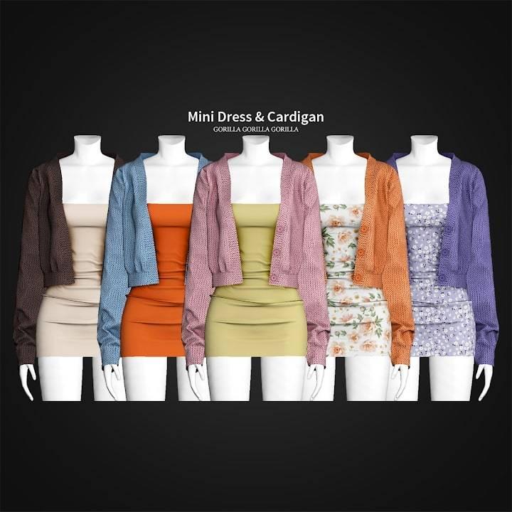 Платье и кардиган - Mini Dress & Cardigan