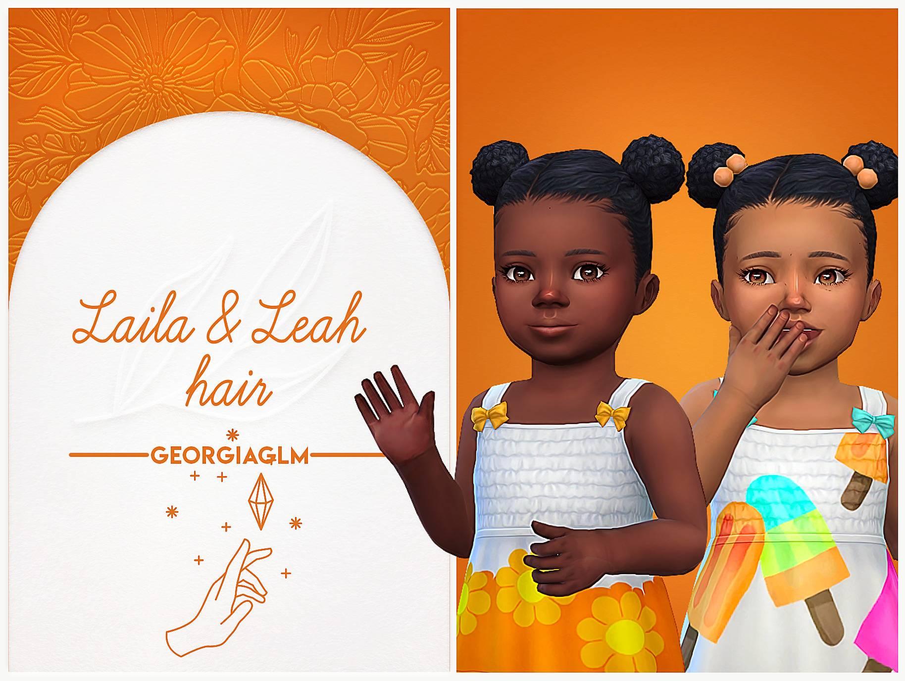 Прическа для малышек - Laila and Leah hair
