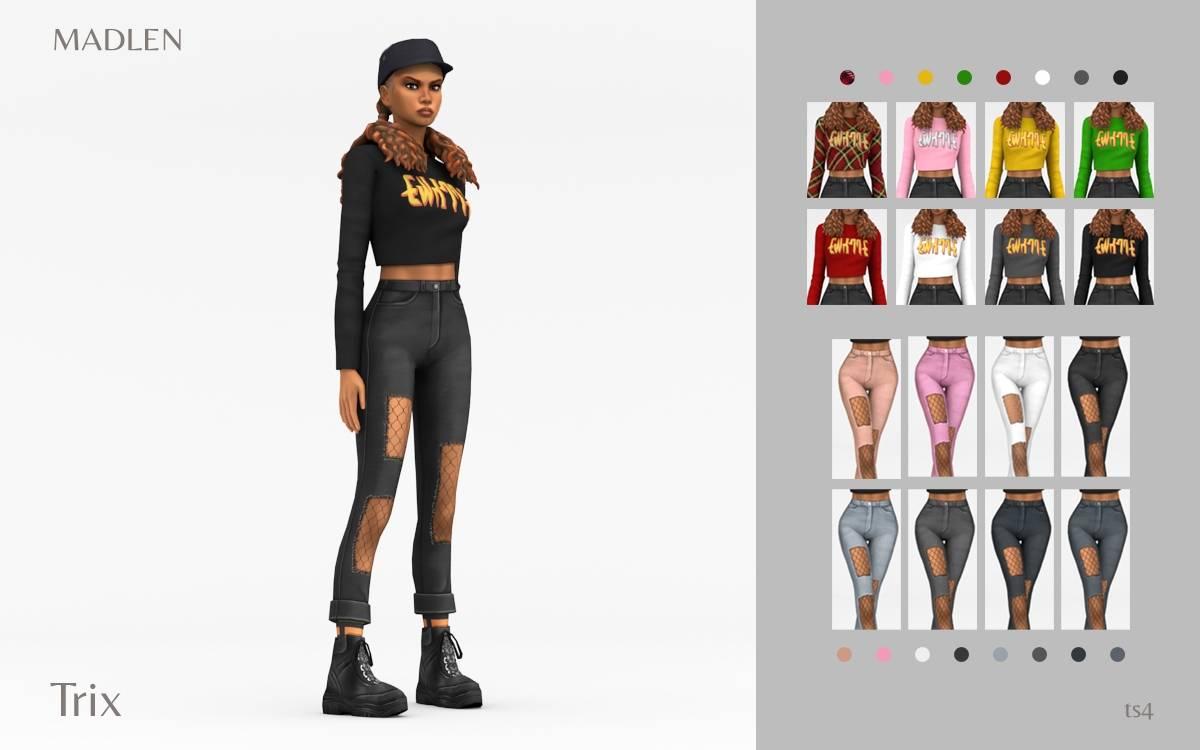 Топ и джинсы - Trix Outfit Pack