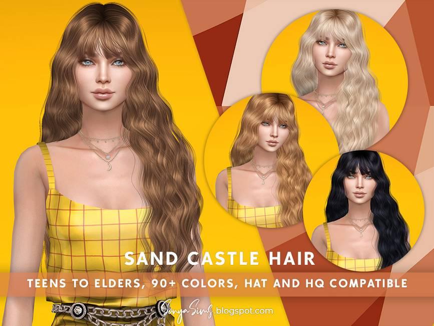 Женская прическа - Sand Castle Hair