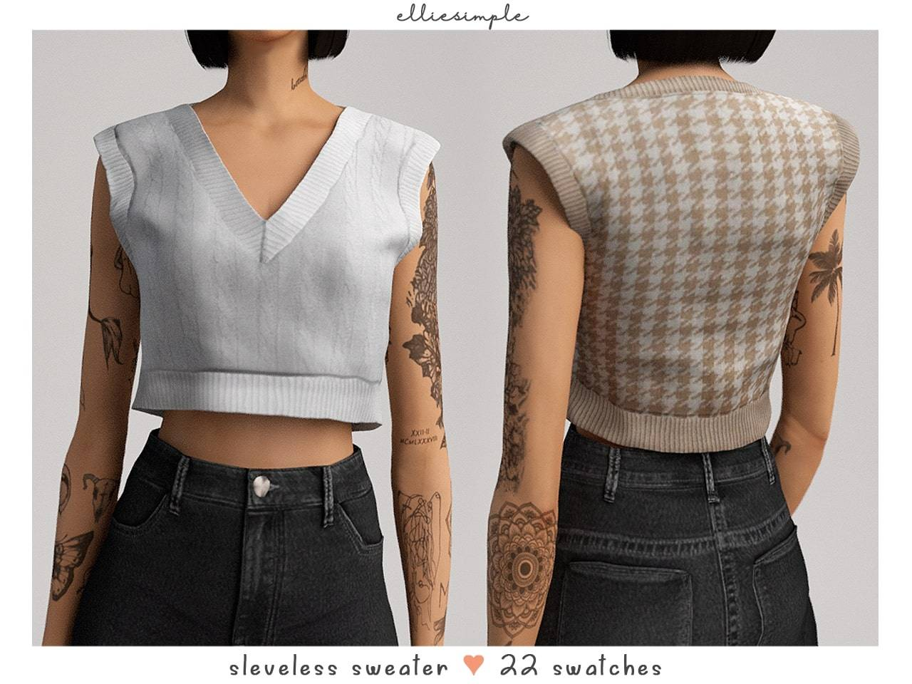 Женский жилет - sleeveless sweater