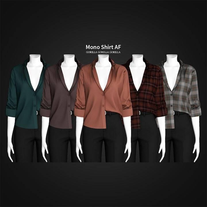 Женская рубашка - Mono Shirt AF