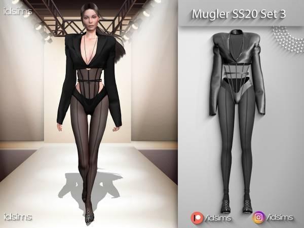 Комплект одежды - mugler ss20 set 3