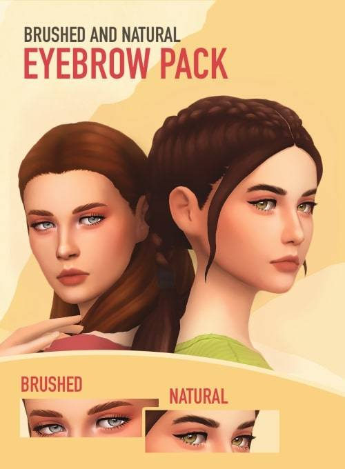 Набор бровей - brushed and natural eyebrow pack