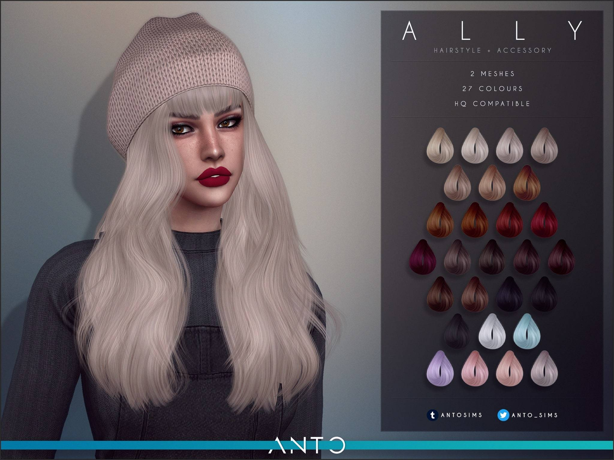 Женская прическа - Ally