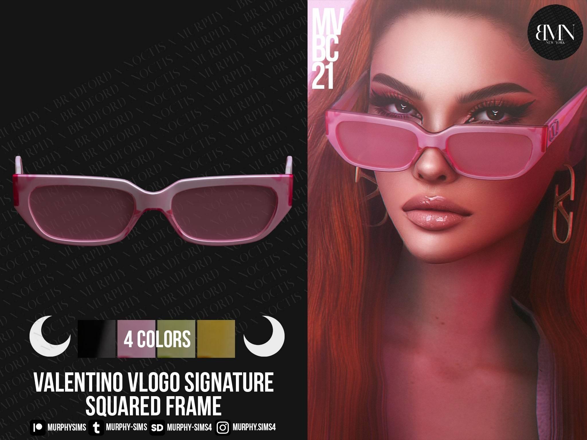 Солнечные очки - Valentino VLogo Signature Squared Acetate Frame